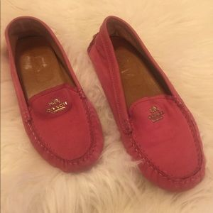 Coach Leather Pink Slip-On Flats